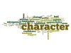 Character word cloud