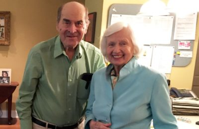 Dr. Henry Heimlich and Patty Gill Ris.